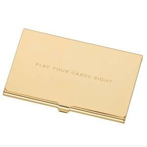 New In Box Kate Spade Gold Cardholder